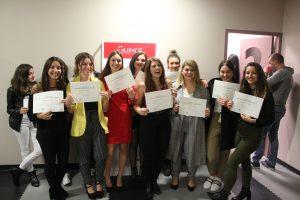 Remise des diplômes à l'école privée d'esthétique de Vienne